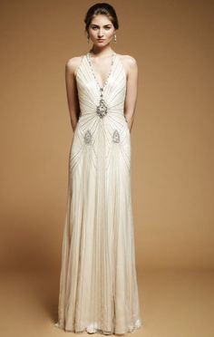 Jenny Packham 2012 Bridals. Love this it has a roaring 20's feel.