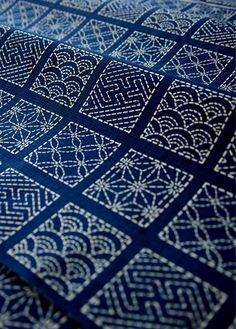 Sashiko patterns.