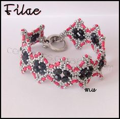 FILAE Bracelet Components - FREE PATTERN. Page 1/2. By Mu. This is not a complete pattern, it´s a component pattern to complete your own way!