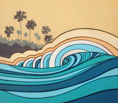 Morning session. Surf art by Joe Vickers