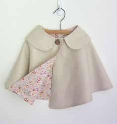 Linen Cape by OneMe on Etsy -- girls' size but so awesome