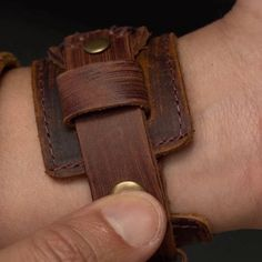 Brown Rawhide Leather Bracelet | In stock! | Collin Rowe Superbat, Bangles, Bracelets, Felicia, Two By Two, Brown, Easy, Gold, Gifts