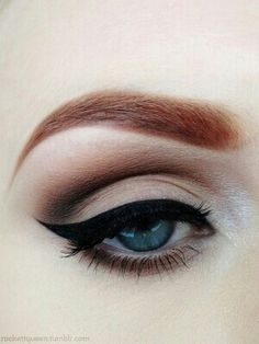 Bridal Makeup: Classic Cat Eyeliner. Would this be weird with red lips and blue hair?