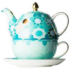 Dancing Magnolia Aqua Tea For One Cup And Saucer Set, Tea Cup Saucer, Tea Cups, Chocolate Pots, Chocolate Coffee, Pink Cups, Tea For One, Turquoise, Aqua