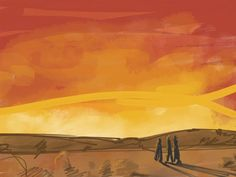 the road to emmaus art | The road to Emmaus.