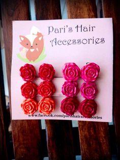 Handmade rose clip.
