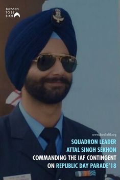 Squadron Leader Attal Singh Sekhon Commanding the IAF contingent on Republic Day For the Second Time in a Row! Share & Spread this Mirrored Sunglasses, Mens Sunglasses, Republic Day, Proud Mom, Turbans, The Row, Two By Two, Blessed, Army