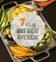 Instead of stressing over #Thanksgiving hors d'oeuvres last minute, pick 1 to 2 easy nibbles that you can prep days (or weeks!) in advance