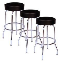 online shopping for Jet Black Chrome 30 Inch Swivel Bar Stool - Set Three from top store. See new offer for Jet Black Chrome 30 Inch Swivel Bar Stool - Set Three