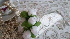 Flores de cetim para artesanato