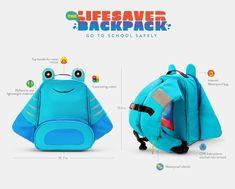 Lifesaver Backpack | Childrens Life Jacket Vest Rucksack Social Good Invention | Award-winning Product Design | D&AD