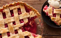 This rhubarb pie recipe has orange zest, sugar, and a tart rhubarb filling baked into a flaky, lattice-top pie crust. Rhubarb Recipes, Pie Recipes, Dessert Recipes, Desserts, Picnic Recipes, Sweet Recipes, Yummy Recipes, Yummy Food, Dessert