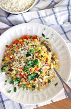 16. Mexican Risotto With Sweet Corn and Cotija Cheese #greatist http://greatist.com/eat/healthy-risotto-recipes-that-wont-leave-you-stirring-forever