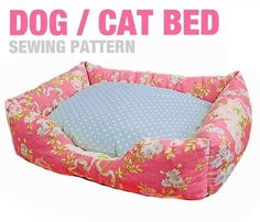 Sewing Pattern - Dog / Cat / Pet Bed - 3 Sizes - English Version bei Makerist
