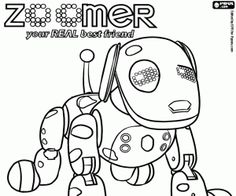 Zoomer The Interactive Robotic Dog Coloring Page Printable Game