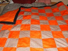 Orange and brown squares. Squares, Blanket, Orange, Bed, Brown, Projects, Home, Log Projects, House