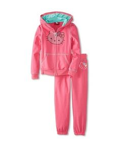 50% OFF Hello Kitty Girl's Hoodie & Sweatpant Set