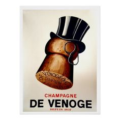 Champagne Cork Make your favorite space feel like a smoky, Classical Hollywood nightclub with this retro canvas print, advertising popular vintage liquor and foods from the hi Vintage French Posters, Pub Vintage, French Vintage, Vintage Food, Vintage Prints, Unique Vintage, Vintage Kitchen, Wine Advertising, Vintage Advertising Posters