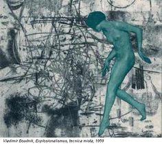 Vladimir Boudnik, Explosionalismus, tecnica mista, 1959