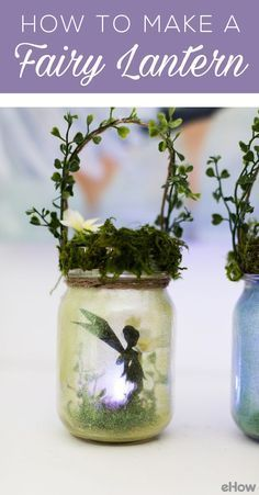 These charming fairy lanterns are not only easy to make, but look adorable in a garden or when used as a night light. They'll be sure to spark your child's imagination. DIY here: http://www.ehow.com/how_12343403_make-charming-summer-fairy-lanterns.html?utm_source=pinterest.com&utm_medium=referral&utm_content=freestyle&utm_campaign=fanpage
