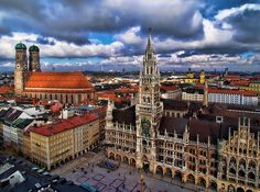 München's beautiful Marienplatz! Love the Glockenspiel! :) My favorite city in the world!!! :)