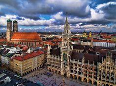 München's beautiful Marienplatz! Love the Glockenspiel! :) My favorite city in the world!!! :)