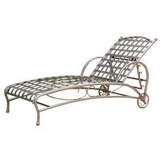 Santa Fe Patio Chaise in Pewter