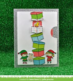 My adult playground. Lawn Fawn Blog, Lawn Fawn Stamps, Happy Wishes, Interactive Cards, Christmas Paper, Christmas Crafts, Christmas Ornament, Christmas Ideas, Cute Cards