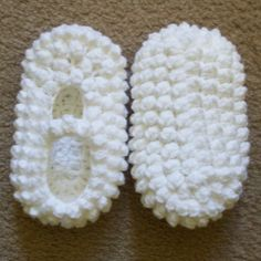 Popcorn Slippers free crochet pattern