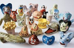 Character pottery by Karin Hagen.
