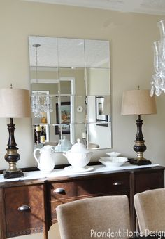 DIY (Pottery Barn Knock-Off} Brinkley Beveled Mirror Knockoff | Provident Home Design