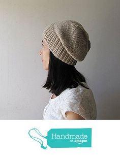 Sand Beige Slouchy Hat, Hand Knit Chunky Slouch Hat, Women Knit Hat, Wool Blend Hat, Seamless Winter Beanie, Gift for Her, Made to Order from NaryaBoutique https://www.amazon.com/dp/B01LX0TJE4/ref=hnd_sw_r_pi_dp_YoV7xbC5MW8QY #handmadeatamazon