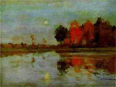 The Twilight. Moon. - Isaac Levitan
