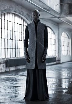 "star-wars-fashion: ""Outfit for Senator Bail Organa Inaisce Fall/Winter 2013 "" Dark Fashion, Fashion Art, High Fashion, Mens Fashion, Fashion Design, Gothic Fashion, Fashion 2014, Fashion Lookbook, Modern Fashion"