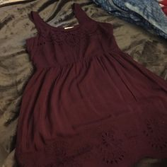 Pins and Needles dress Pins and Needles dress. Never worn. Plum purple. Size large. Side zip closure. Pins & Needles Dresses Mini