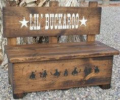 Toy box bench, Kid's bench, Storage for toys and much more. Western bench, Wood bench, Storage bench by WorkHorseFurniture on Etsy https://www.etsy.com/listing/175530070/toy-box-bench-kids-bench-storage-for