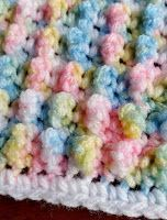 SewMe-Crafts : BUBBLE POP crochet stitchBaby Blanket This crochet...
