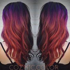 purple red orange color melt