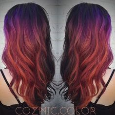 purple red orange color melt