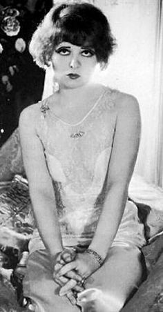 """Clara Bow- star of the Roaring '20's in Hollywood Silent films around whom the term """"It Girl"""" was coined."""