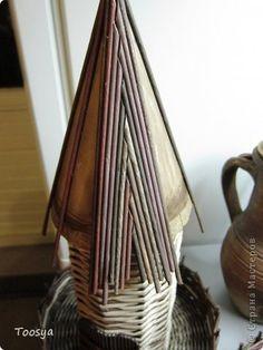 Мастер-класс Поделка изделие Плетение Крыша для мельницы? Легко Бумага газетная Трубочки бумажные фото 5