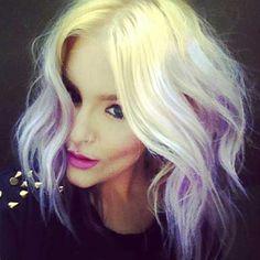 Jennifer Avello pastel purple lavender blonde ombre hair by joann Blonde Ombre Bob, Purple Hair, Pastel Purple, Purple Ombre, Light Purple, Pastel Blonde, Purple Tips, Pink, Pastel Hair