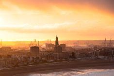 Lever de soleil sur Le Havre Le Havre, New York Skyline, Travel, Sunrise, The Sea, Viajes, Destinations, Traveling, Trips