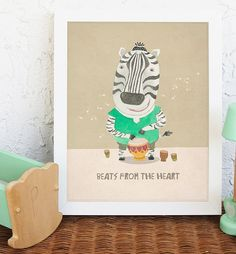 Our Nursery animal art prints want to be part of this celebration for welcoming your little ones, and be part of the love you put to surrounding him or her. Let every baby discover the beauty of art from the day you bring them home.   Safari animal print, zebra print  ....................................   PRODUCT DESCRIPTION: =>Prints sizes are 5x7 inches, 8x10 inches and 11x14 inches. =>Professionally printed on heavy matte finish archival matte paper (250gsm) =>Usin...