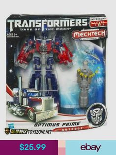 Transformers Dark of the Moon MechTech Voyager Optimus Prime Hasbro Transformers Cybertron, Transformers Action Figures, Transformers Optimus Prime, Robot Action Figures, Hasbro Transformers, Optimus Prime Toy, Revenge Of The Fallen