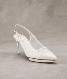 KARINE Petit pois tulle and leather shoe as accessory   Pronovias   Pronovias