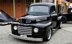 1951 Ford | 1951 Ford F1 pickup - black - fvl