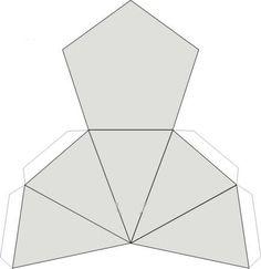 Dibujo recortable Pentapiramidal, figuras geométricas