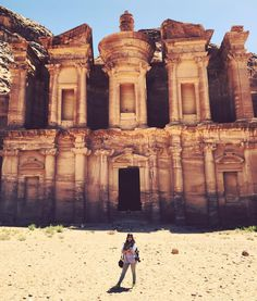 Day 11 - we walked almost 5 miles and a kajillion steps to the monastery larger and more stunning than the treasury. Those monks certainly wanted to be left alone #jordan @kconkli1 by snigdhasur