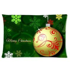 Merry Christmas Perfect Home Decoration Gift Custom Rectangle Pillow Case 16x24 one side * Read more  at the image link.
